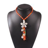 Mode-Fringe-Halskette, Terylen Schnur, mit Muschel, für Frau, keine, 125x45mm, verkauft per 15.7 ZollInch Strang