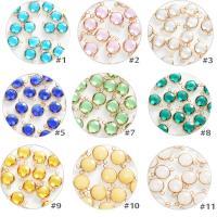 Kristall Schmuckverbinder, Dom, goldfarben plattiert, DIY & facettierte, mehrere Farben vorhanden, 12mm, 10PCs/Tasche, verkauft von Tasche