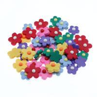 Polymer Ton Perlen , Blume, keine, frei von Nickel, Blei & Kadmium, 25x8x25mm, 1000PCs/Tasche, verkauft von Tasche