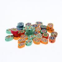 Polymer Ton Perlen , gemischte Farben, frei von Nickel, Blei & Kadmium, 12.50x6.50x16mm, 1000/Tasche, verkauft von Tasche