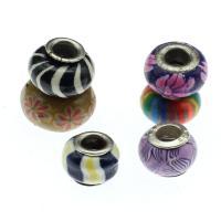 Polymer Ton Perlen , Laterne, gemischte Farben, frei von Nickel, Blei & Kadmium, 17*9~12*9mm, 1000PCs/Tasche, verkauft von Tasche