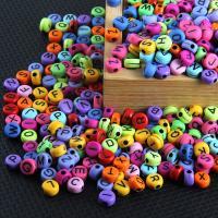 Acryl DIY, gemischte Farben, 7x3.73mm, 100PCs/Tasche, verkauft von Tasche
