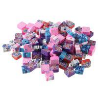 Polymer Ton Perlen , DIY, gemischte Farben, 10x5mm, 100PCs/Tasche, verkauft von Tasche