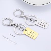 Edelstahl-Schlüssel-Verschluss, Edelstahl, unisex & mit Brief Muster, originale Farbe, 18x32mm, verkauft von PC
