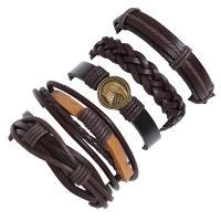 Rindsleder Armband, Kunstleder, Armband Spinnen Webstuhl Werkzeug, mit Zinklegierung, plattiert, unisex, 60mm, verkauft von setzen