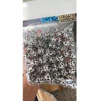 Harz Schmuckperlen, weiß und schwarz, frei von Nickel, Blei & Kadmium, 20mm, 1/PC, verkauft von PC