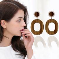 Acryl Schmuck Ohrring, Acetat-Blatt, für Frau, keine, 76mm, verkauft von Paar