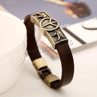 Rindsleder Armband, Kunstleder, plattiert, verschiedene Stile für Wahl & für den Menschen, keine, frei von Nickel, Blei & Kadmium, 10mm, verkauft per ca. 8.5 ZollInch Strang