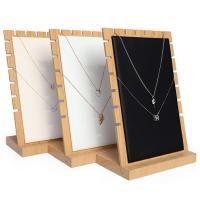 Leder Halsketteständer, Holz, mit WildlederVeloursleder & PU Leder, keine, 175x100x252mm, verkauft von PC