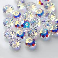 Runde Kristallperlen, Kristall, plattiert, DIY & verschiedene Größen vorhanden, mehrere Farben vorhanden, verkauft von PC