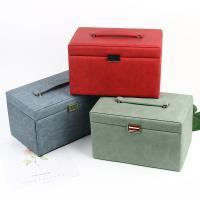 Multifunktionale Schmuck-Box, PU Leder, mit Stoff, mit Spiegel, keine, 280x182x170mm, verkauft von PC