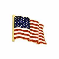 Zinklegierung Broschen, goldfarben plattiert, Handy USA Flagge Muster & unisex & Emaille, gemischte Farben, 25x20mm, 5PCs/Menge, verkauft von Menge