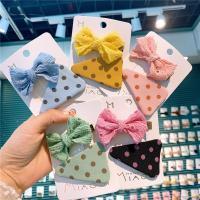 Stoff Haarschnabel, mit Zinklegierung, Kunstdruck, für Kinder, 50mm, 10SetsSatz/Menge, verkauft von Menge