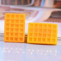 Handy DIY Kit, Harz, mit Kunststoff, Einbrennlack, gelb, 20*27mm, 100PC/Tasche, verkauft von Tasche