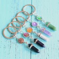 Zinklegierung Schlüssel Verschluss, mit Naturstein, plattiert, verschiedene Stile für Wahl & für Frau, keine, frei von Nickel, Blei & Kadmium, 32x36mm, verkauft von PC