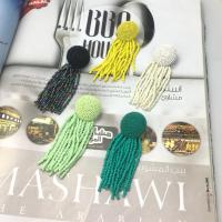 Mode-Fringe-Ohrringe, Zinklegierung, mit Seedbead, plattiert, für Frau, keine, frei von Nickel, Blei & Kadmium, verkauft von Paar