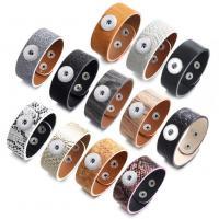Unisex-Armband & Bangle, PU Leder, plattiert, verschiedene Stile für Wahl, keine, 18mm, verkauft von Strang