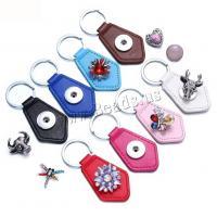 Zinklegierung Schlüssel Verschluss, PU Leder, mit Zinklegierung, plattiert, für Frau, keine, 80x37mm, verkauft von PC