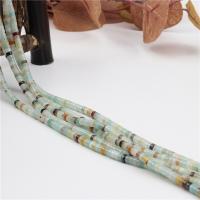Amazonit Perlen, poliert, DIY, 2x4mm, Länge:ca. 15.4 ZollInch, 2SträngeStrang/Tasche, ca. 160PCs/Strang, verkauft von Tasche
