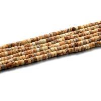 Bild Jaspis Perlen, poliert, DIY, 2x4mm, Länge:ca. 15.4 ZollInch, 2SträngeStrang/Tasche, ca. 98PCs/Strang, verkauft von Tasche