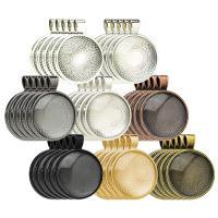 Zink-Legierung Cabochon Weissgold, Zinklegierung, plattiert, verschiedene Verpackungs Art für Wahl, keine, frei von Nickel, Blei & Kadmium, 35.60x27.70mm, verkauft von setzen