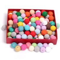 Holzperlen, Holz, mit Caddice, DIY & verschiedene Größen vorhanden, gemischte Farben, 100PCs/Tasche, verkauft von Tasche