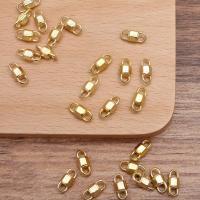 Zinklegierung Schmuckverbinder, goldfarben plattiert, DIY & 1/1-Schleife, frei von Nickel, Blei & Kadmium, 4.70x11.50mm, 100PCs/Tasche, verkauft von Tasche