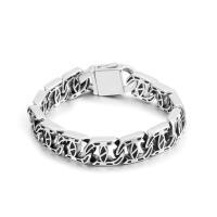 Herren-Armband & Bangle, Titanstahl, poliert, für den Menschen, Silberfarbe, verkauft von PC