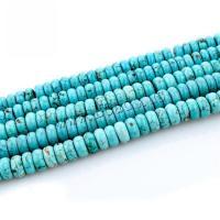 Türkis Perlen, Synthetische Türkis, poliert, DIY, Türkisblau, 4x8mm, verkauft von Strang
