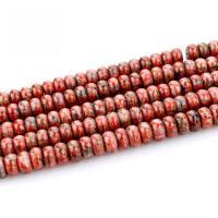 Natürlich rote Achat Perlen, Roter Achat, poliert, DIY, rot, 4x8mm, verkauft von Strang
