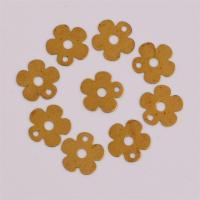Messing Schmuck Anhänger, Blume, DIY, originale Farbe, frei von Nickel, Blei & Kadmium, 10.70x0.30mm, Bohrung:ca. 1.5mm, ca. 260PCs/Tasche, verkauft von Tasche