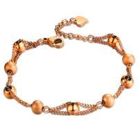Titan Edelstahl Armband, Titanstahl, plattiert, einstellbar & für Frau, keine, 6mm, Länge:ca. 6.7 ZollInch, 2SträngeStrang/Tasche, verkauft von Tasche