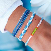 Mode Wachsschnur Armbänder, gemischte Farben, verkauft von PC
