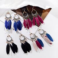 Mode-Feder-Ohrring, Zinklegierung, keine, verkauft von Paar