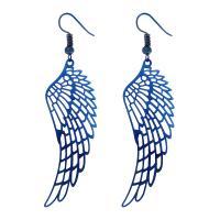 Edelstahl Tropfen Ohrring, Flügelform, plattiert, für Frau & hohl, keine, 25x70mm, 5PaarePärchen/Tasche, verkauft von Tasche