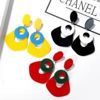 Acryl Schmuck Ohrring, für Frau & hohl, keine, 40x66mm, 5PaarePärchen/Tasche, verkauft von Tasche