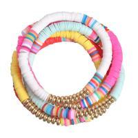 Mode Armband, Polymer Ton, mit Zinklegierung, plattiert, für Frau, 180mm, verkauft von PC