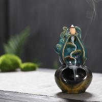 Porcelain Backflow Incense Burner, Porzellan, handgemacht, 105x95x180mm, verkauft von PC