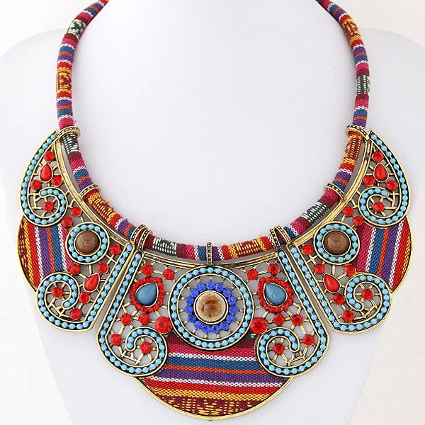 Gut bekannt Collares de Moda abalorios joyería por mayor china collar la mujer  XQ01