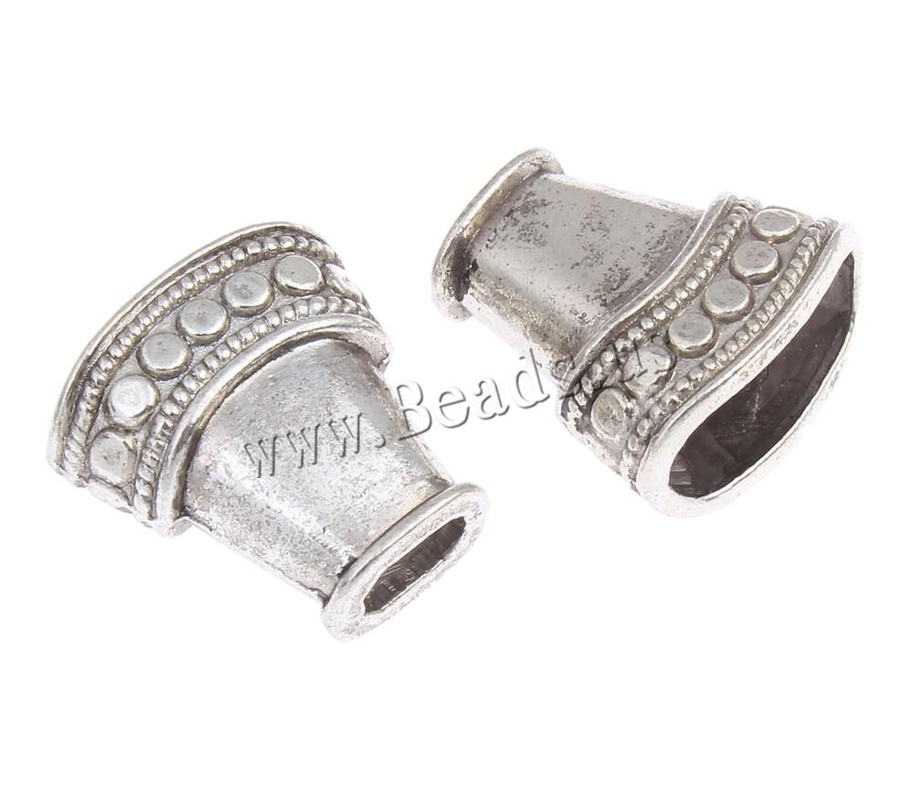 Zinc alloy bead cap antique silver color plated lead